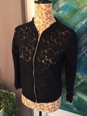 Jacke aus schwarzer Spitze  Gr S
