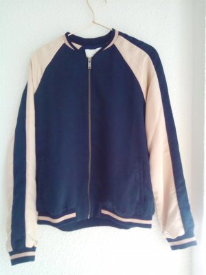 Vila Giacca bomber blu scuro-rosa pallido Seta