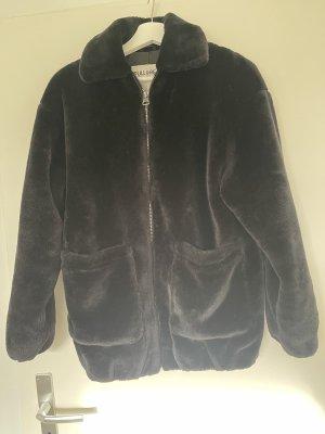 Zara Kurtka ze sztucznym futrem czarny