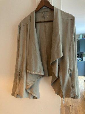 Laura Torelli Faux Leather Jacket oatmeal