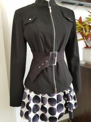 Alba Moda Between-Seasons Jacket black-silver-colored