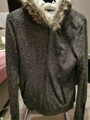 Pimkie Chaqueta de tela de sudadera gris oscuro-gris antracita