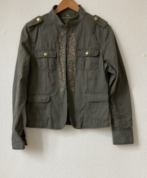 Bamboo Short Jacket khaki-ocher cotton