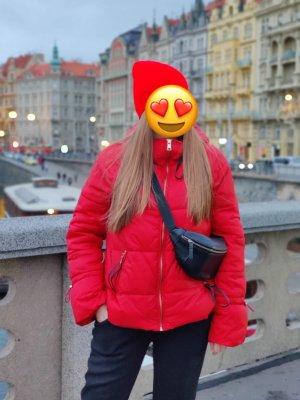 Zara Kurtka zimowa czerwony