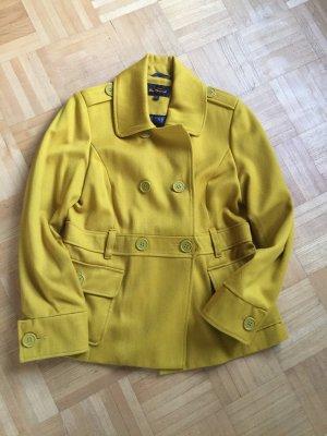 Ben Sherman Between-Seasons Jacket lime yellow wool