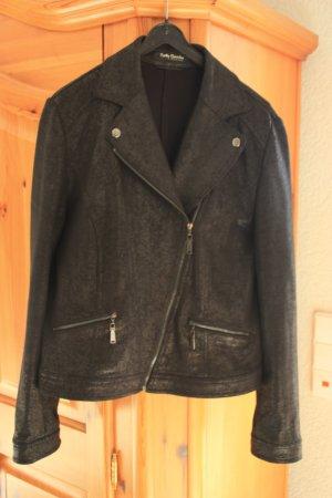 Betty Barclay Veste motard noir coton
