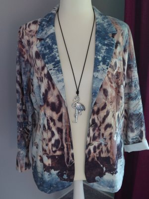 Tredy Veste chemise marron clair-bleu