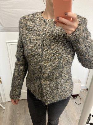Aust Knitted Blazer cream-anthracite