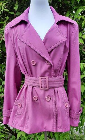 Vintage Długa marynarka jasny fiolet-fioletowy