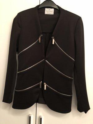 Rinascimento Jersey blazer donkerbruin