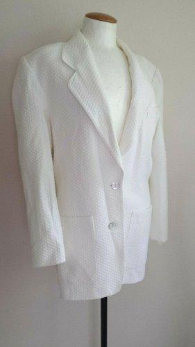 / Blazer en jersey blanc coton