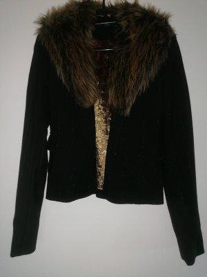 Zero Fake Fur Jacket black-bronze-colored