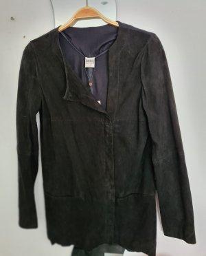 Object Veste en cuir noir