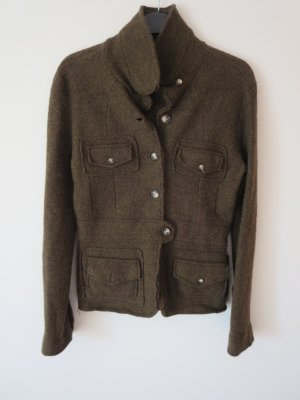Jacke Blazer Wolle dunkelgrün Größe M