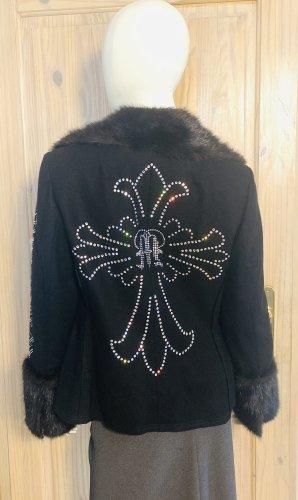 Manuel Luciano Wool Jacket black wool