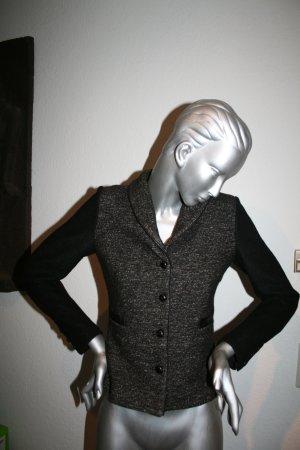 Jacke / Blazer Zara Woman Gr. M (38) grau schwarz meliert