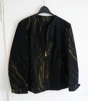 Jacke Blouson schwarz gelb grün glänzend festlich von BERRI Gr. 42 UVP 299 €