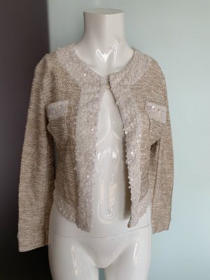 Blazer en tweed beige-crème