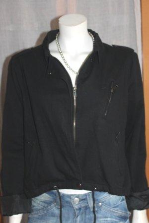 BlendShe Bomber Jacket black cotton