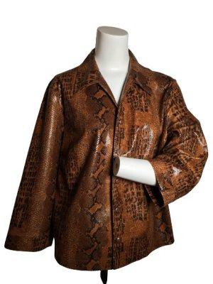 Blazer de tela de sudadera marrón claro-marrón