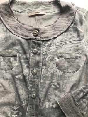 Bottega Chaqueta estilo camisa gris claro-color plata