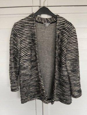 H&M Basic Veste en laine noir-blanc
