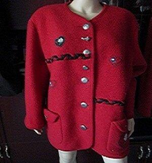 Long Jacket dark red