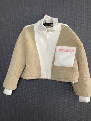 Zara Kurtka oversize kremowy-biały