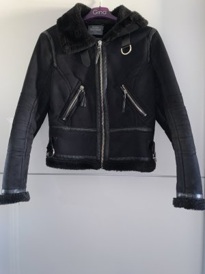 Bershka Fur Jacket black