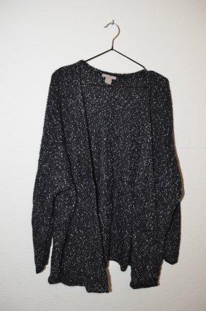 H&M Wełniany sweter ciemnoniebieski-srebrny Wełna