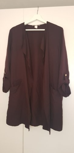 H&M Conscious Collection Veste longue brun pourpre lyocell