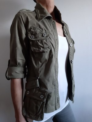 Guess Jeans Safari Jacket green grey-khaki