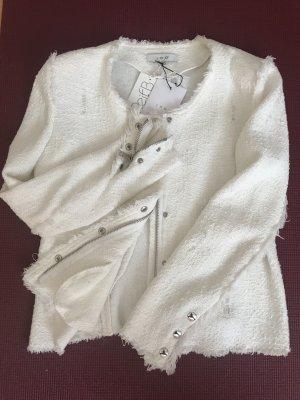 Iro Blazer in maglia bianco sporco Cotone