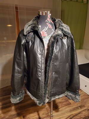 Cibyll Faux Leather Jacket black