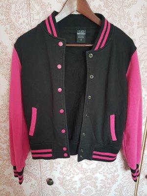 Urban Classics Giacca college nero-rosa