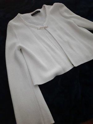Hallhuber Wełniany sweter biały