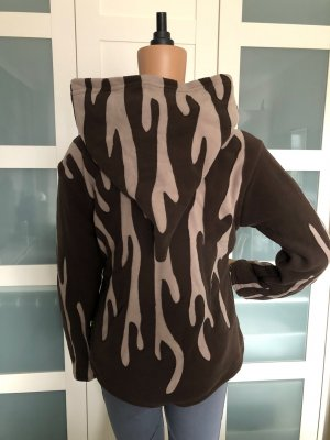 unbranded Fleece Jackets dark brown-beige polyester