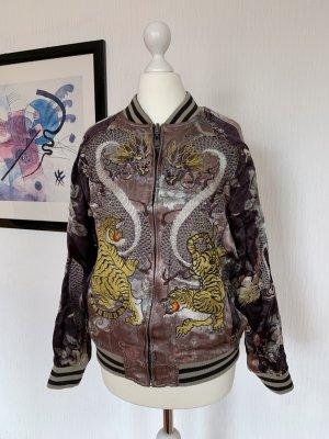 Jacke, Drachenmuster, Asiatisch