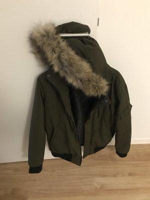 C&A Down Jacket dark green-black