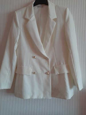 Made in Italy Long Jacket natural white