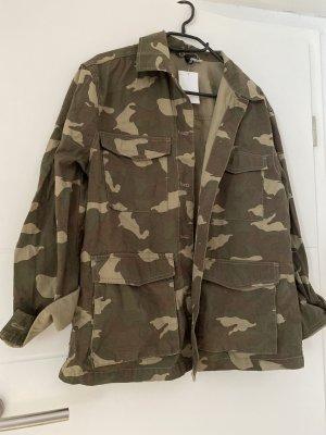 H&M Veste militaire gris vert