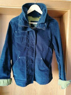 Eddie Bauer Podwójna kurtka niebieski-oliwkowy Bawełna