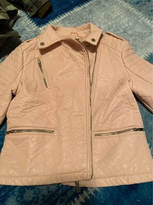 Atmosphere Faux Leather Jacket pink