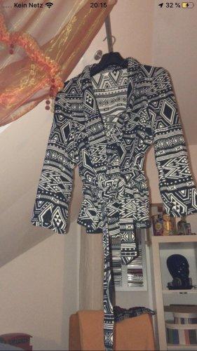 H&M Knitted Blazer white-black