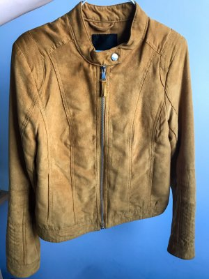 Amisu Between-Seasons Jacket ocher-gold orange