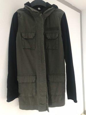H&M Giacca lunga grigio-verde-nero