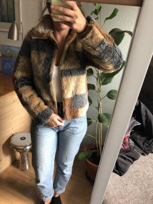 True Vintage Fur Jacket brown-beige
