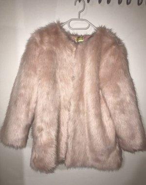 H&M Fur Jacket light pink