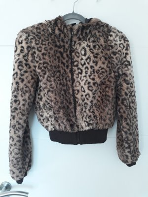 H&M Fake Fur Jacket brown-dark brown