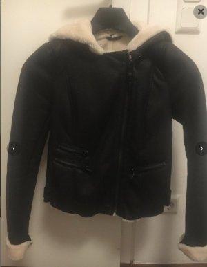 Zara Flight Jacket black-cream